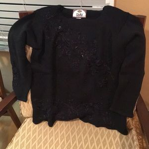 Beautiful black sweater with beads